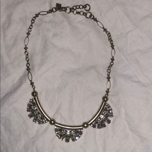 Banana republic gold and diamond necklace